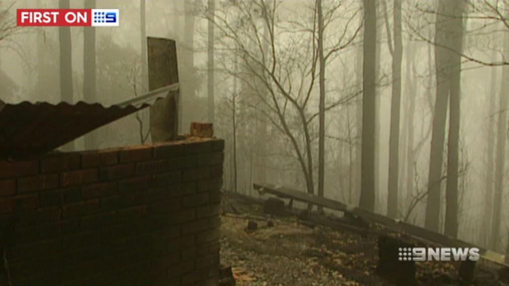 Police believe the blaze was deliberately lit. (9NEWS)