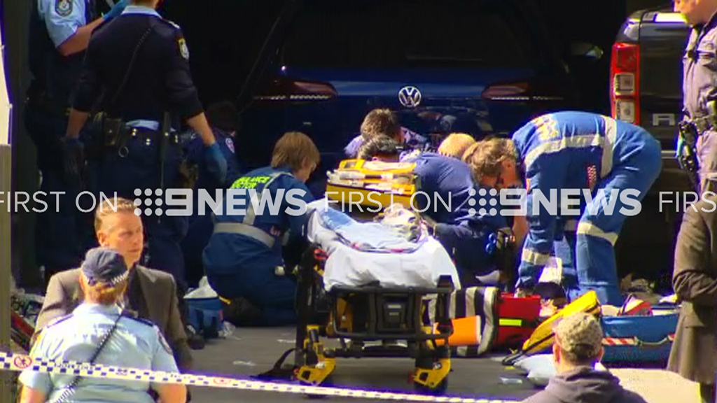 Paramedics tried to resuscitate the man but he died at the scene. (9NEWS)