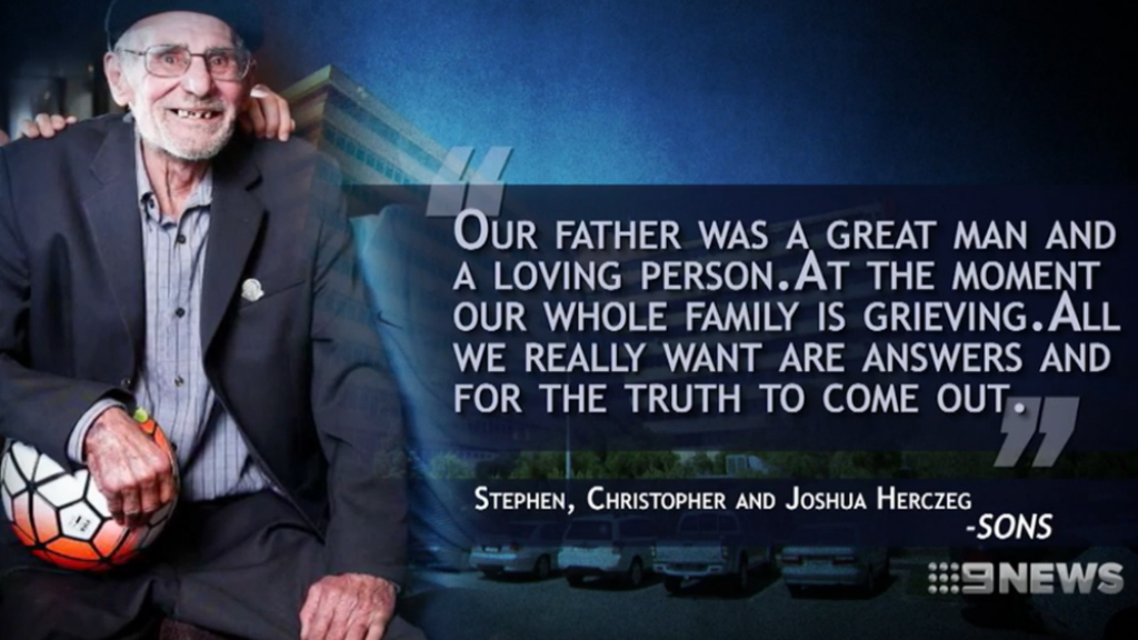 Steve's Herczeg's sons made a statement about the inquest. (9NEWS)