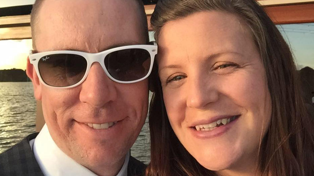 Kate Goodchild with her husband David. (Supplied)