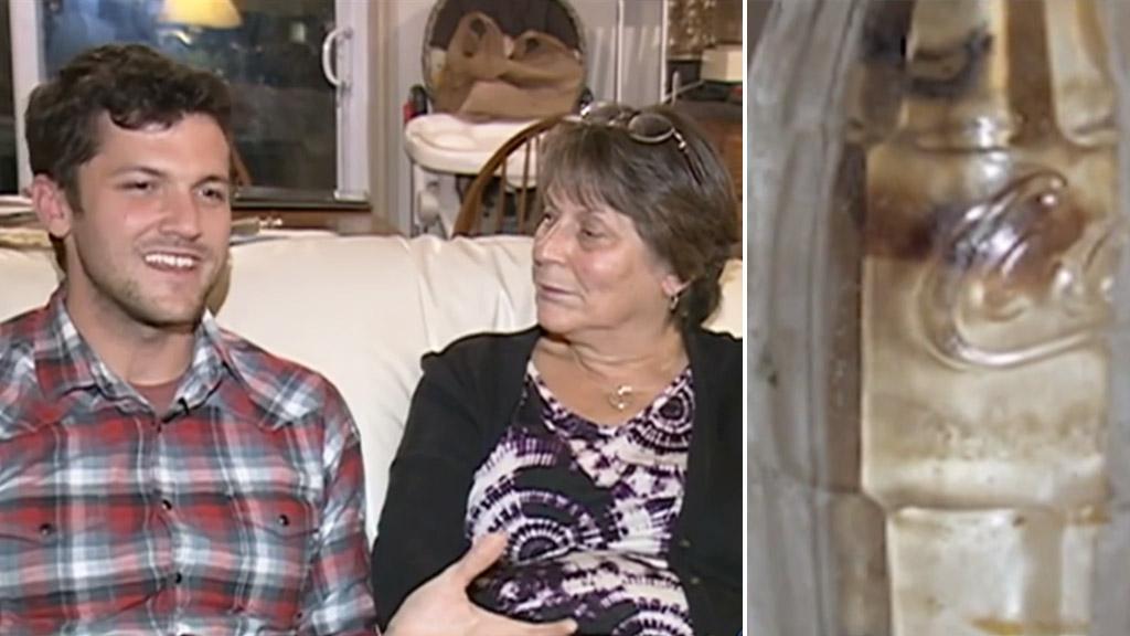 Cliff Buffington contacted Paula Pierce after finding a message in a bottle from her late father. (WMUR)