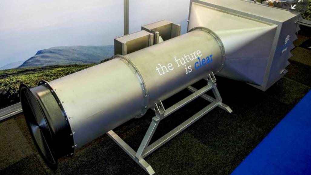 Dutch inventors unveil giant vacuum to clean outside air