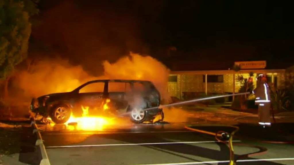 Police hunt for arsonist after car deliberately torched in Adelaide's north