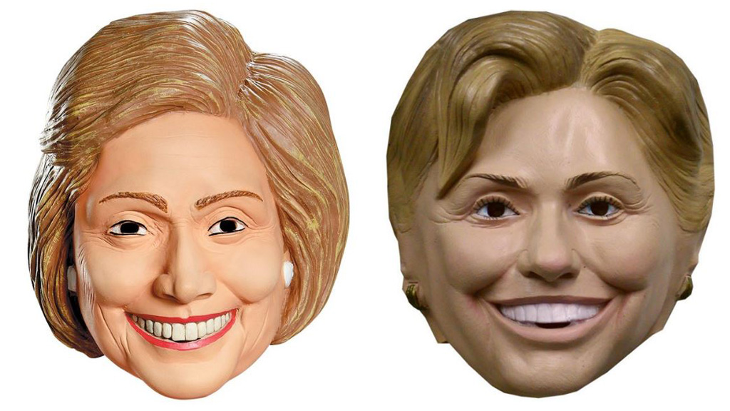 Trump masks are outselling Clinton three to one.