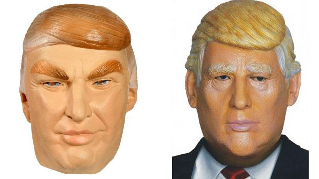 Donald Trump masks like these are flying off the shelves.