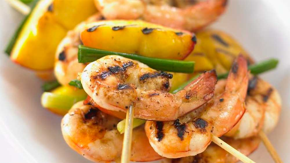 Food on sticks: Barbecue prawn skewers recipe