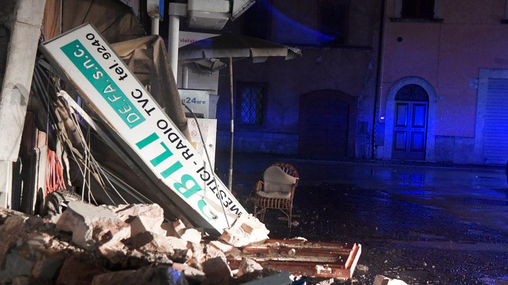 The quakes were felt as far as Rome and Venice. (AFP)