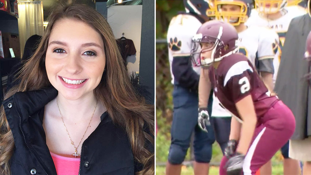 Teen cheerleader ignores haters and qualifies to become football player
