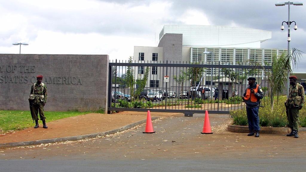 Man shot dead after stabbing outside US embassy in Kenya