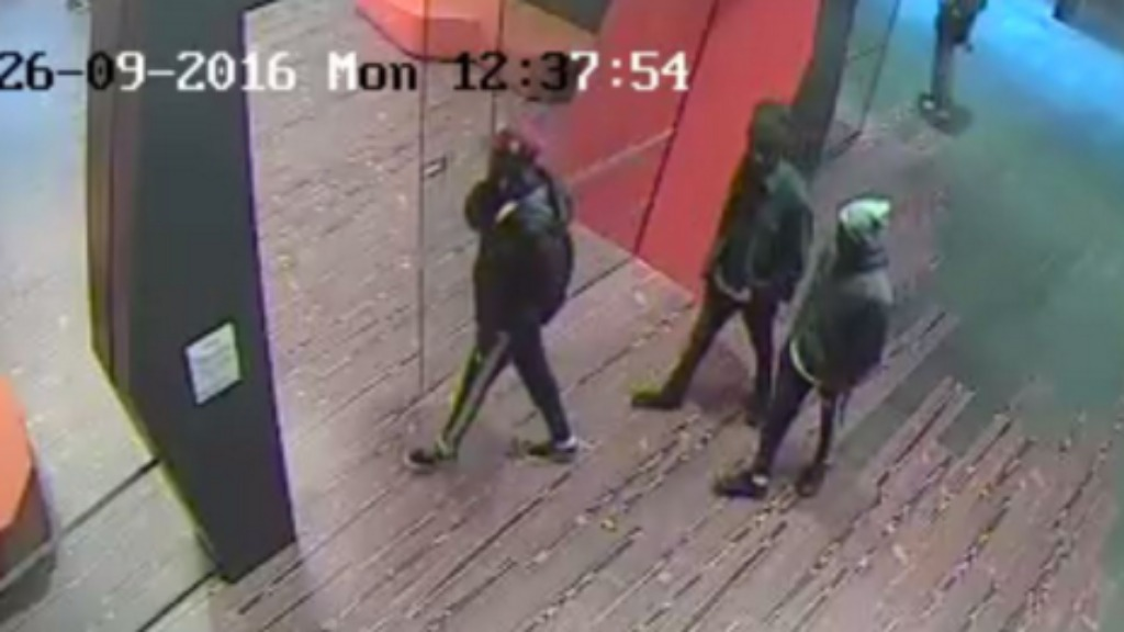 The three men were captured on security cameras. (Victoria Police)