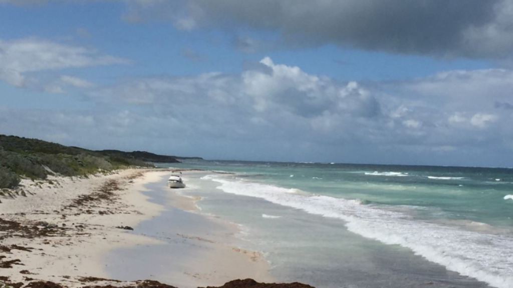 The vessel was found on a beach between Lancelin and Cervantes. (Western Australia Police)