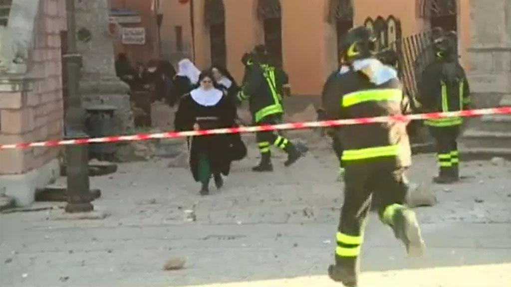 Emergency crews rush to assist residents. (Sky UK)