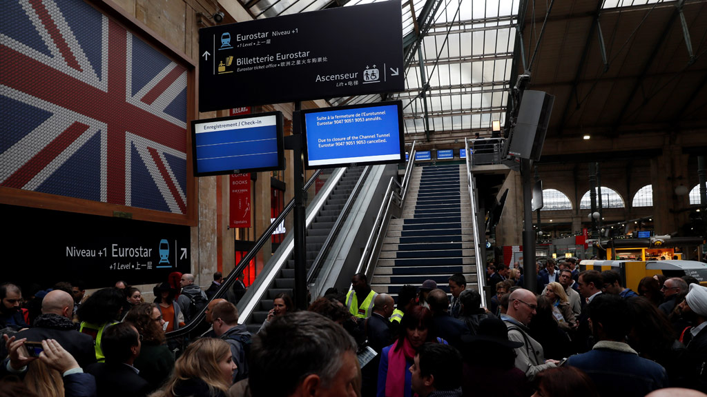 Eurostar trains delayed after World War Two shell found on board