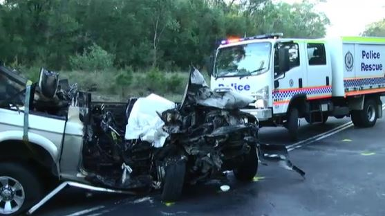 Man dead after ute explodes in two-car crash on NSW South Coast