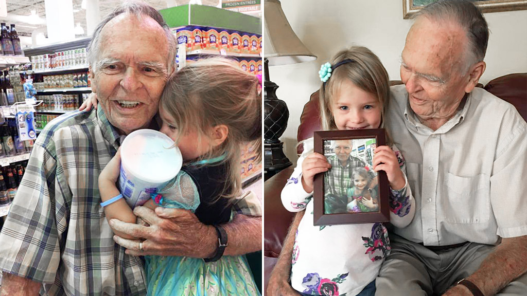 Elderly man 'healed' by unexpected bond with young girl
