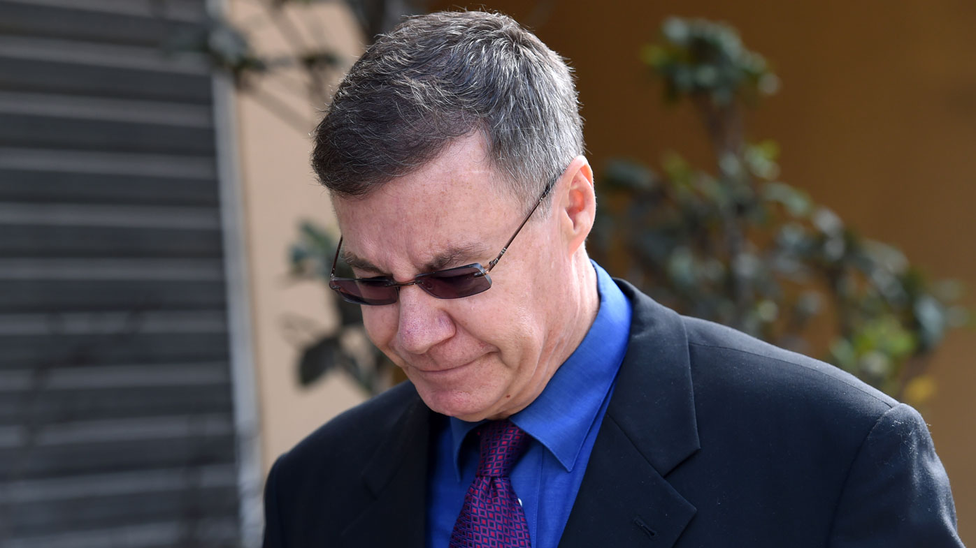 Mr Atkins at the coronial inquest into Matthew Leveson's disappearance. (AAP)