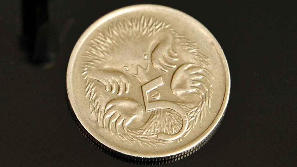 A five-cent coin. (AFP file image)