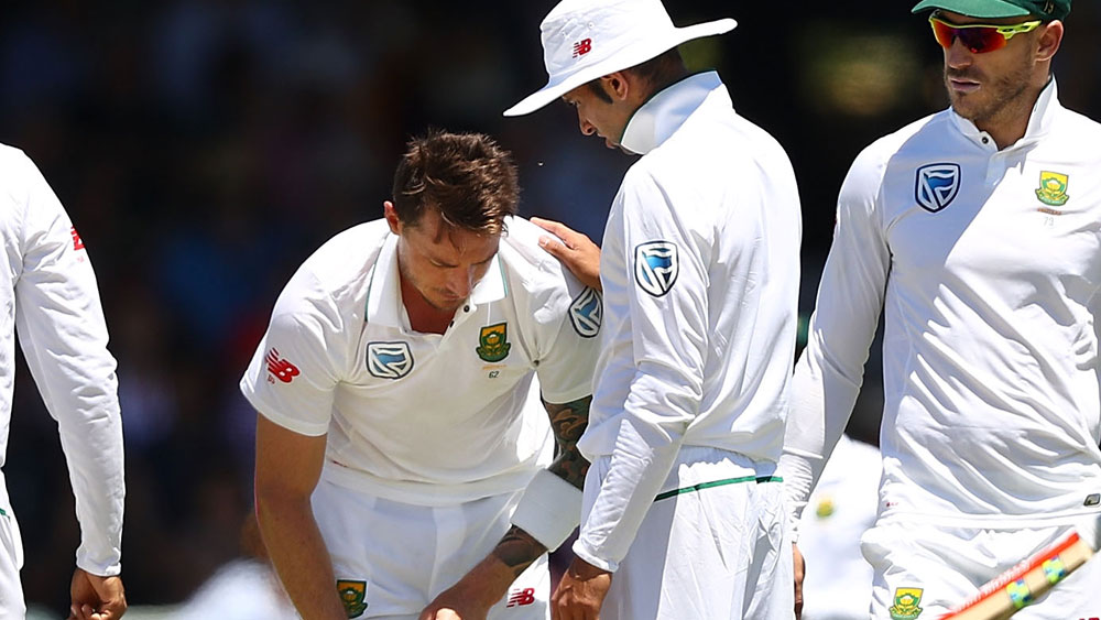 Dale Steyn will be out for six months after being injured at the WACA. (AAP)