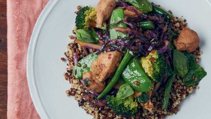 "<a href=""http://kitchen.nine.com.au/2016/11/09/15/23/jesinta-campbells-chicken-stir-fry "" target=""_top"">Jesinta Campbell's chicken stir fry<br> <br> </a>"