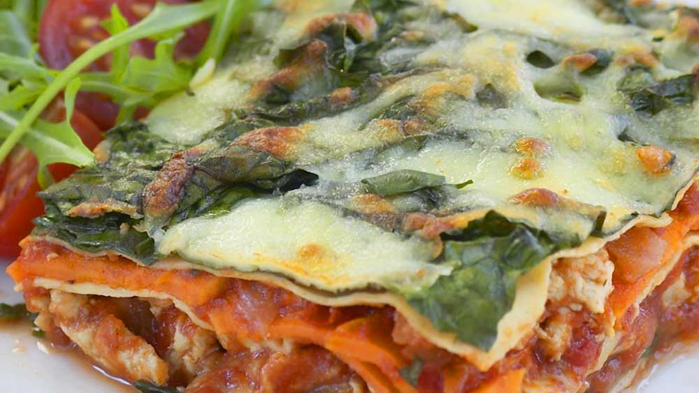 Chicken and kumara lasagne. Image: Woman's Day
