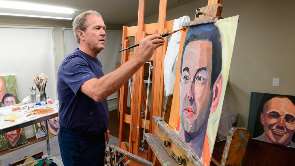 George W. Bush paints portraits of wounded veterans he sent to war