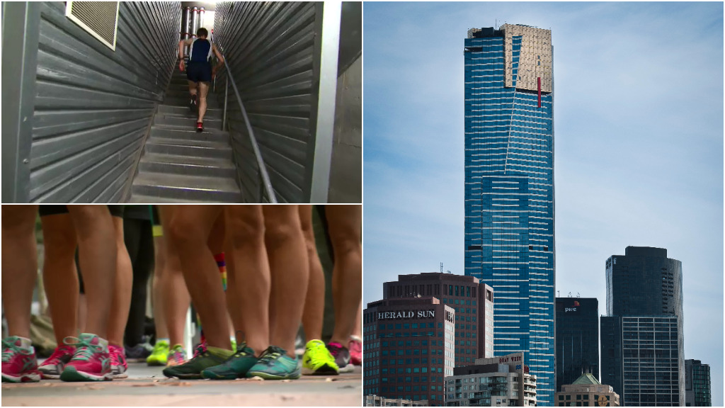 Runners scale Melbourne's Eureka Tower for good cause