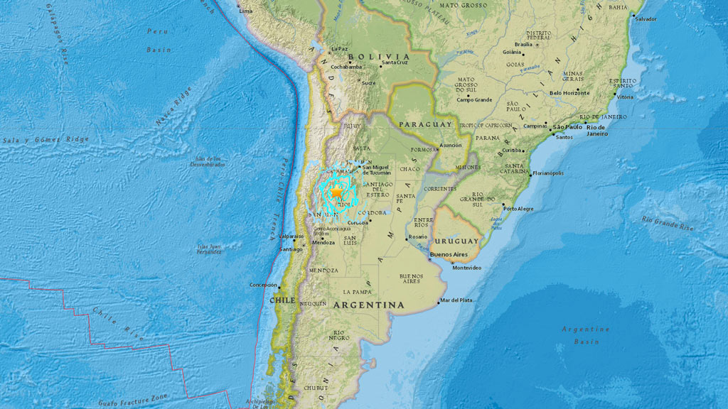 A 6.2-magnitude quake has rocked Argentina. (earthquake.usgs.gov)