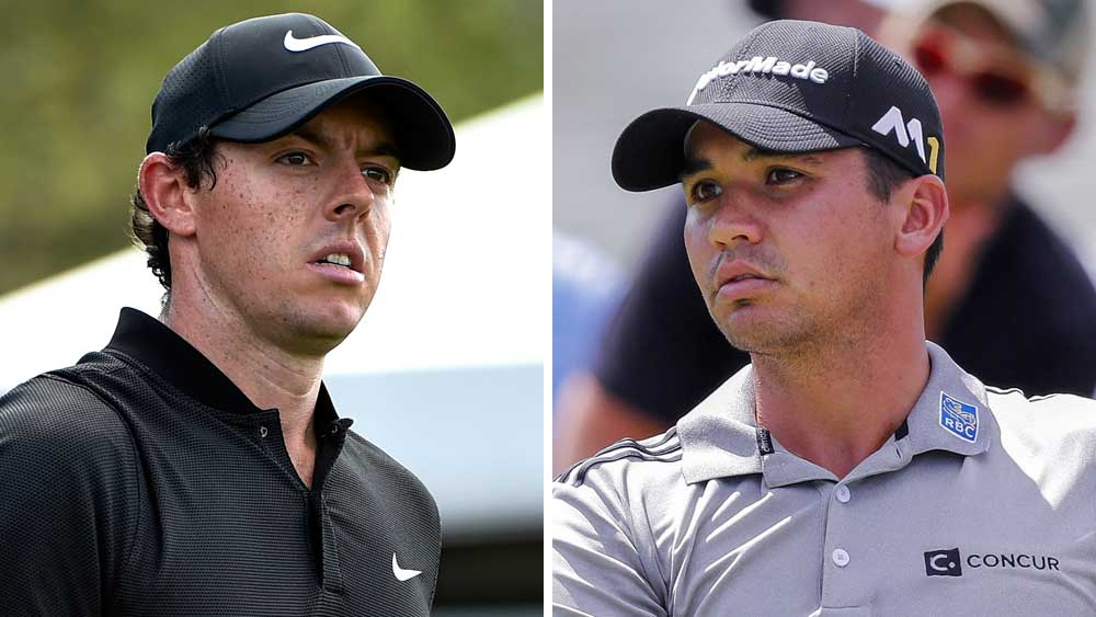 Rory McIlroy (left) is looking to take away Jason Day's mantle as world No.1. (AAP)