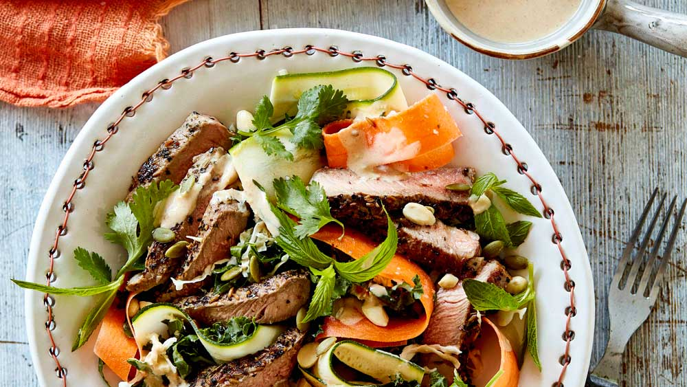 Beef sirloin superfood salad