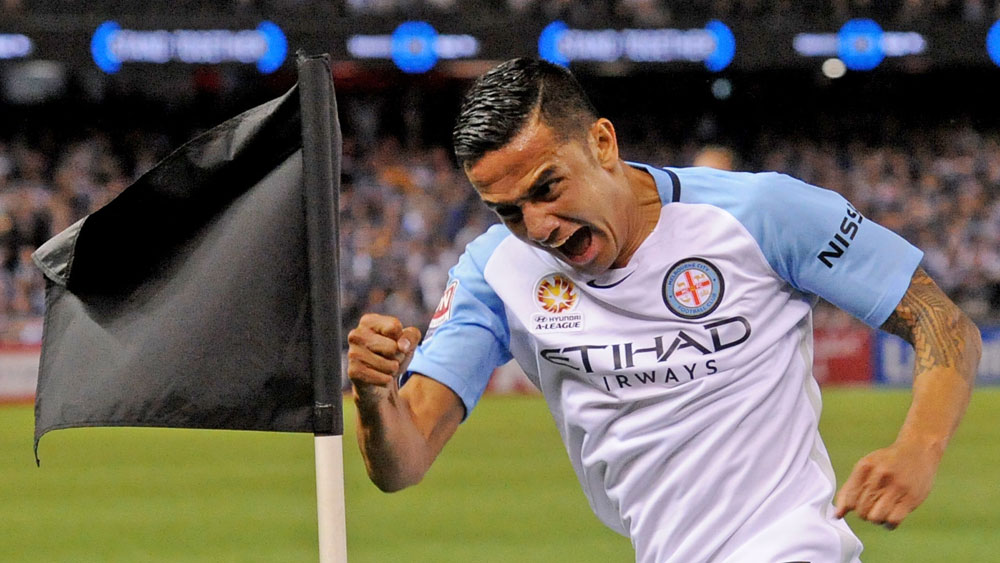 Tim Cahill and Melbourne City are headed to Spotless Stadium. (AAP)