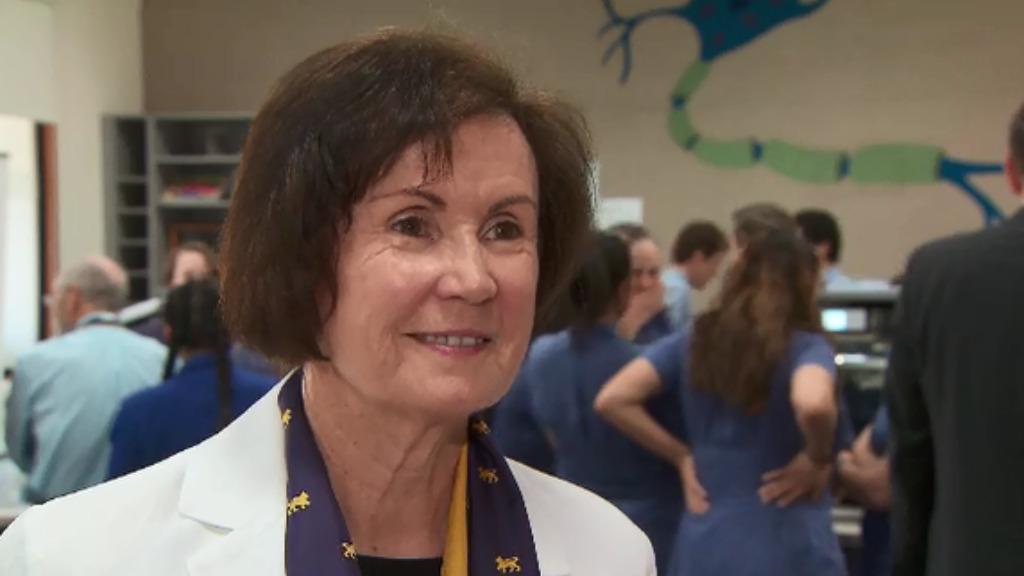 "Wesley College principal Helen Drennan called the innovation ""inspiring"". (9NEWS)"