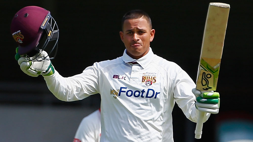 Usman Khawaja scored a timely century for Queensland. (Getty Images)