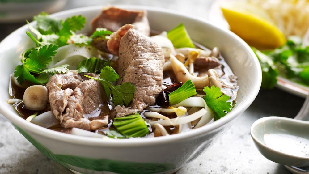 Vietnamese beef noodle soup (pho). Image: BeefandLamb.com.au