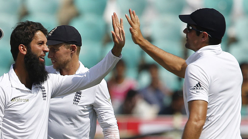 England spinner Moeen Ali snared three wickets. (AAP)