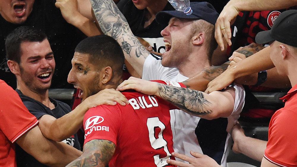 Wanderers star stages epic celebration despite disallowed goal