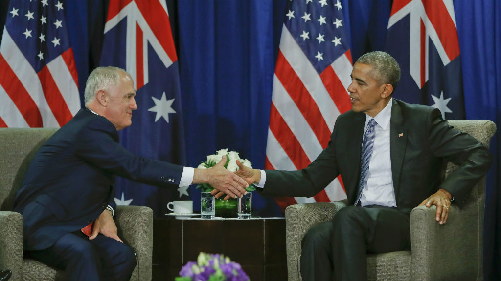 Mr Turnbull thanked Mr Obama for his leadership. (AAP)