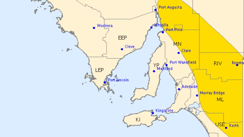 Severe thunderstorm warning for damaging winds issued for South Australia's east