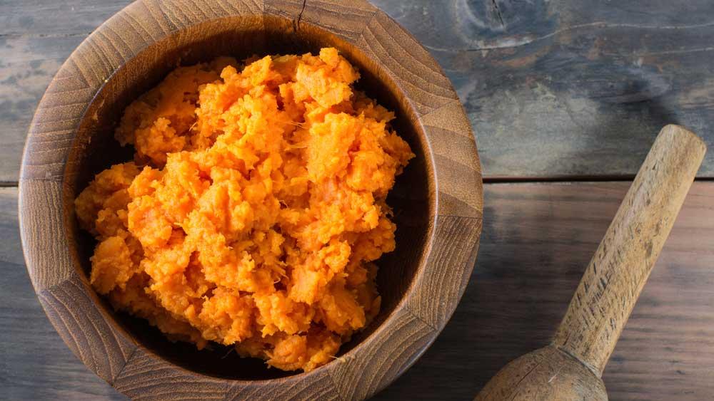 Healthy sweet potato mash