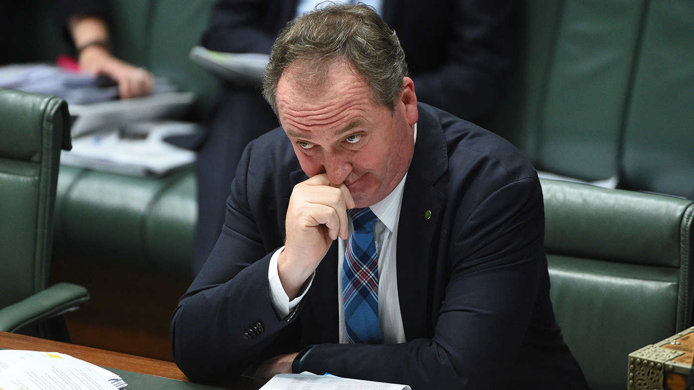 The acting PM deep in thought. (AAP)