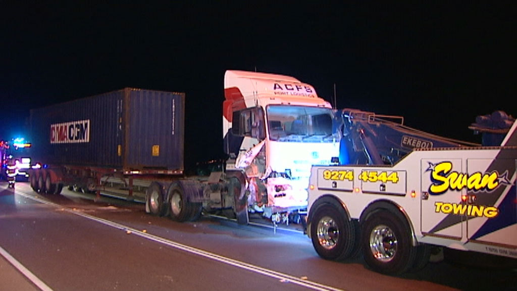 Cousins allegedly slammed his vehicle into the truck. (9NEWS)