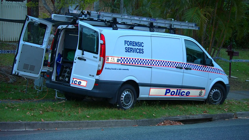 A police forensic crew are now on the scene. (9NEWS)