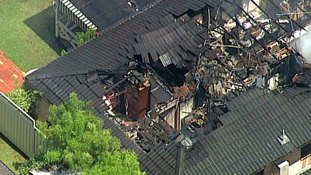 Sydney home completely gutted after fire rips through property