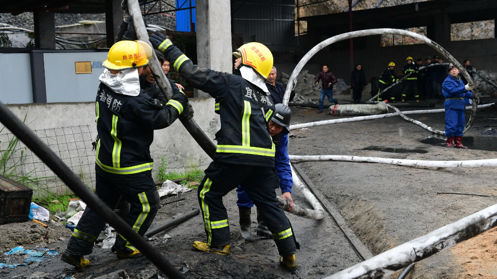A total of 32 firetrucks and 212 military personell have been deployed at the scene of the collapse. (AFP)