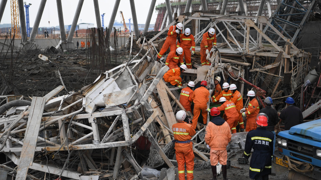 Death toll rises to 67 after power plant collapses in China