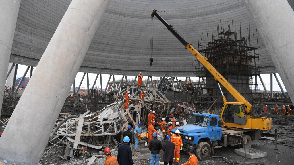 Scenes of destruction from the site of the power plant in Jiangxi, China. (AFP)