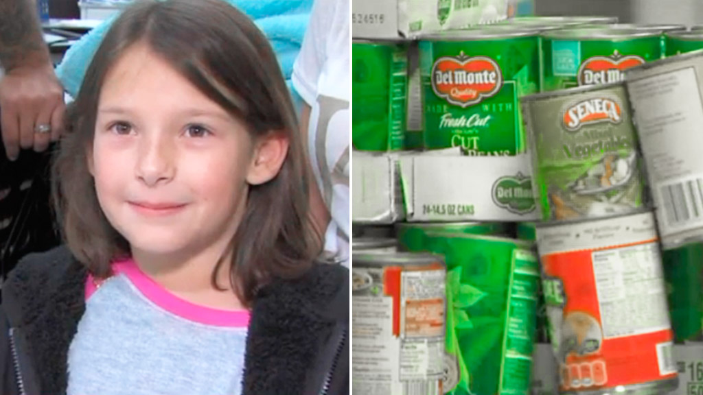 Girl spends $135 winning scratchie on feeding less fortunate