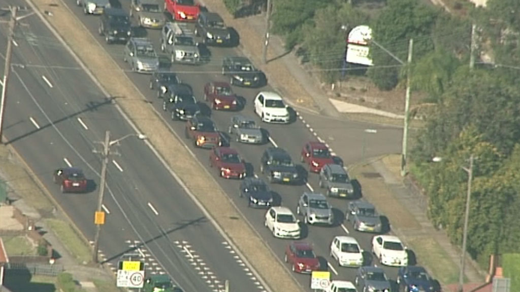 Heavy traffic was triggered by the blackout. (9NEWS)