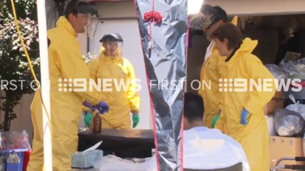 "A man has been arrested after police discovered a ""clan lab"" in Adelaide. (9NEWS)"