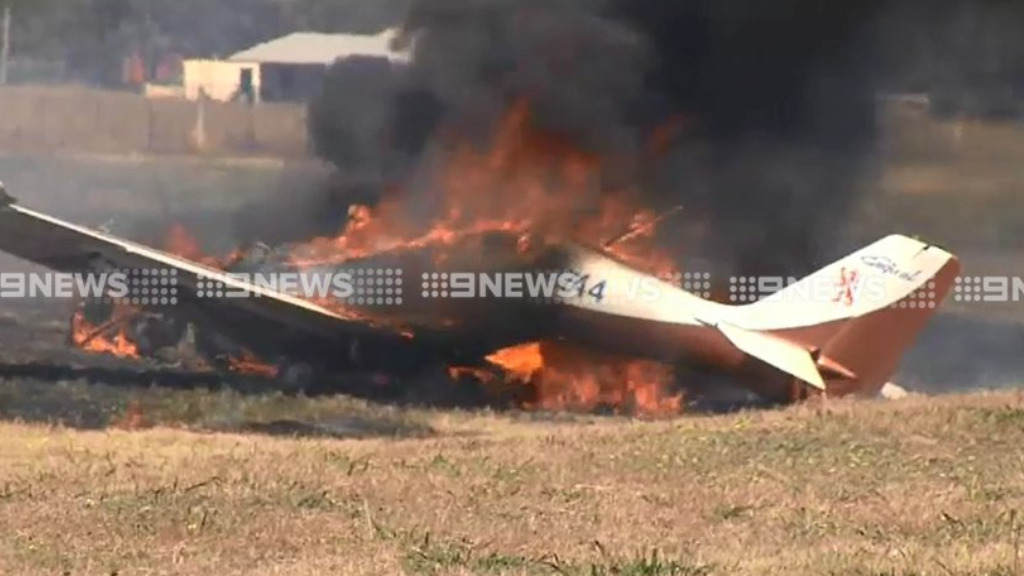 Two men have walked away from a light plane crash in northeastern Victoria. (9NEWS)