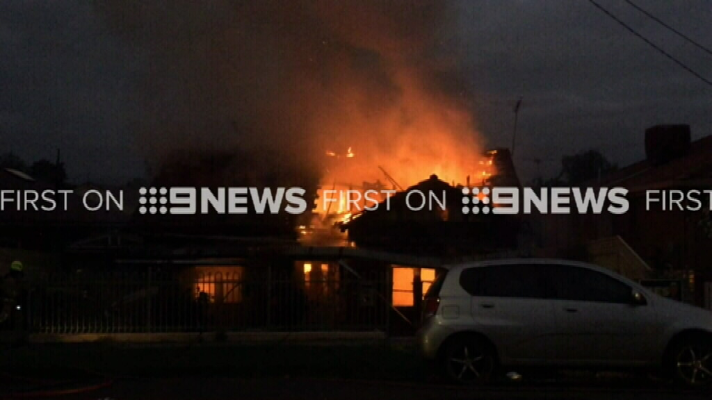 It took 28 firefighters over an hour to bring the fire under control. (9NEWS)